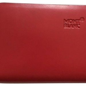 MONT BLANC Red leather Wallet